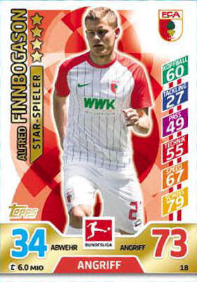 TOPPS Bundesliga 2017//2018 Sticker 208 Patrick Herrmann
