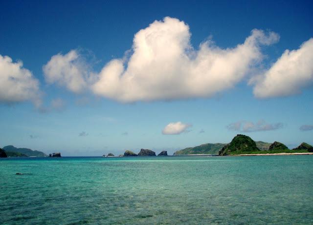 Zamami island ocean near okinawa