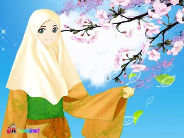 Kartun Gambar Muslimah Yang Cantik Jer