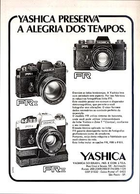 propaganda câmeras Yashica - 1979.  os anos 70; propaganda na década de 70; Brazil in the 70s, história anos 70; Oswaldo Hernandez;
