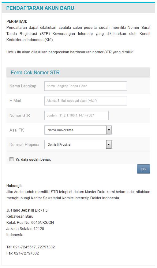 Cara Mendaftar Internsip Dokter Secara Online Arga Aditya