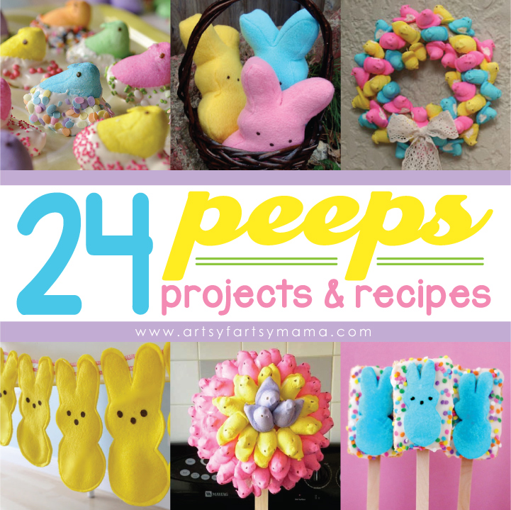24 Peeps Projects & Recipes at artsyfartsymama.com #Easter #Peeps #EasterCrafts #EasterRecipes