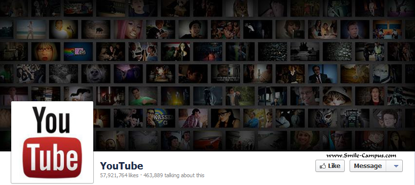 Youtube.com Facebook Timeline Page
