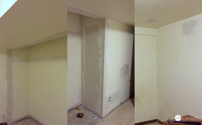 The Ceiling Of The Closet Door Area Was Especially Fun. Speaking Of Fun I  Also Got To Do Some Makeshift Texturing.