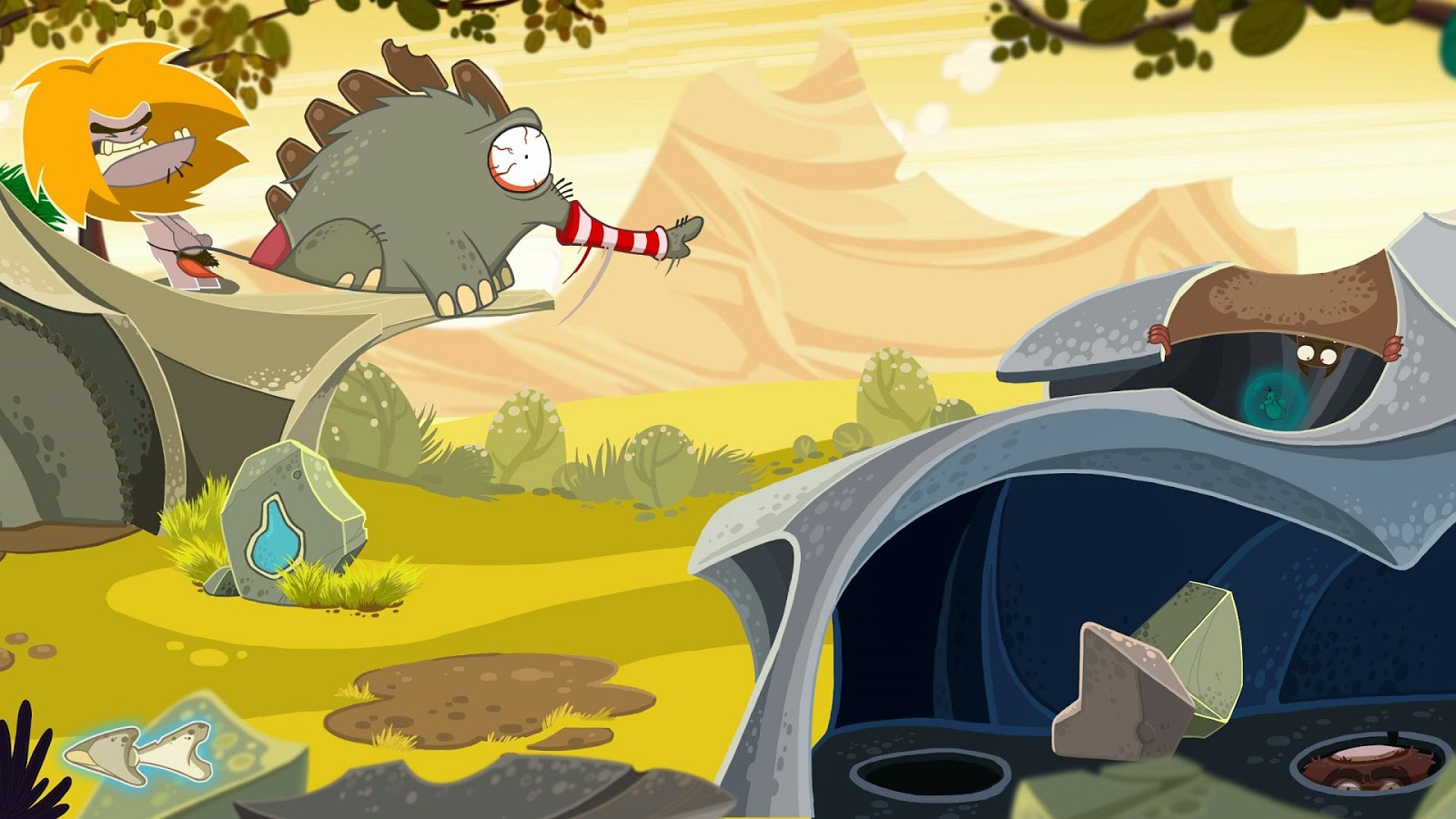 Fire game screenshot Daedelic Entertainment Dinosaur