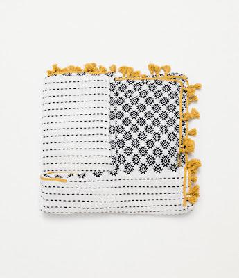 Zara Printed Scarf With Pompom Detail