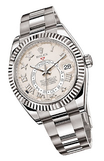 Montre Rolex Oyster Perpetual Sky-Dweller Or Gris référence 326939