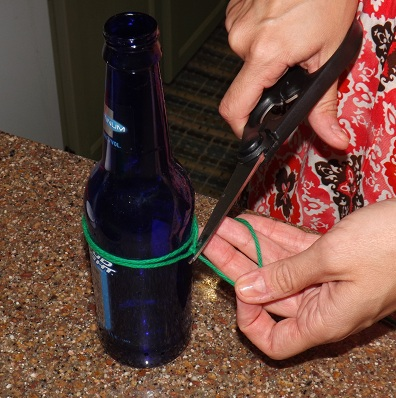 Biddle bits how to cut glass bottles using polish remover for Cutting glass bottles with string