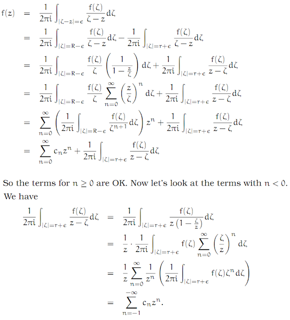 Complex Analysis: #15 The Laurent Series equation pic 10