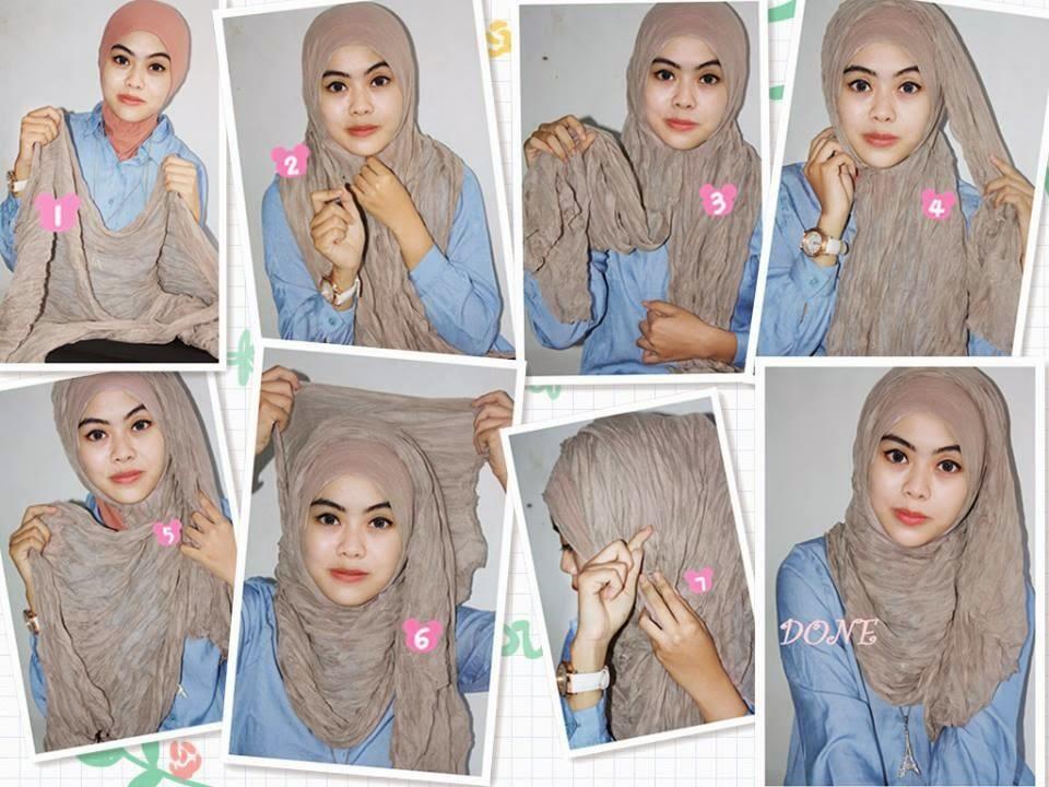 Cara Memakai Jilbab Pashmina Simple | newhairstylesformen2014.com