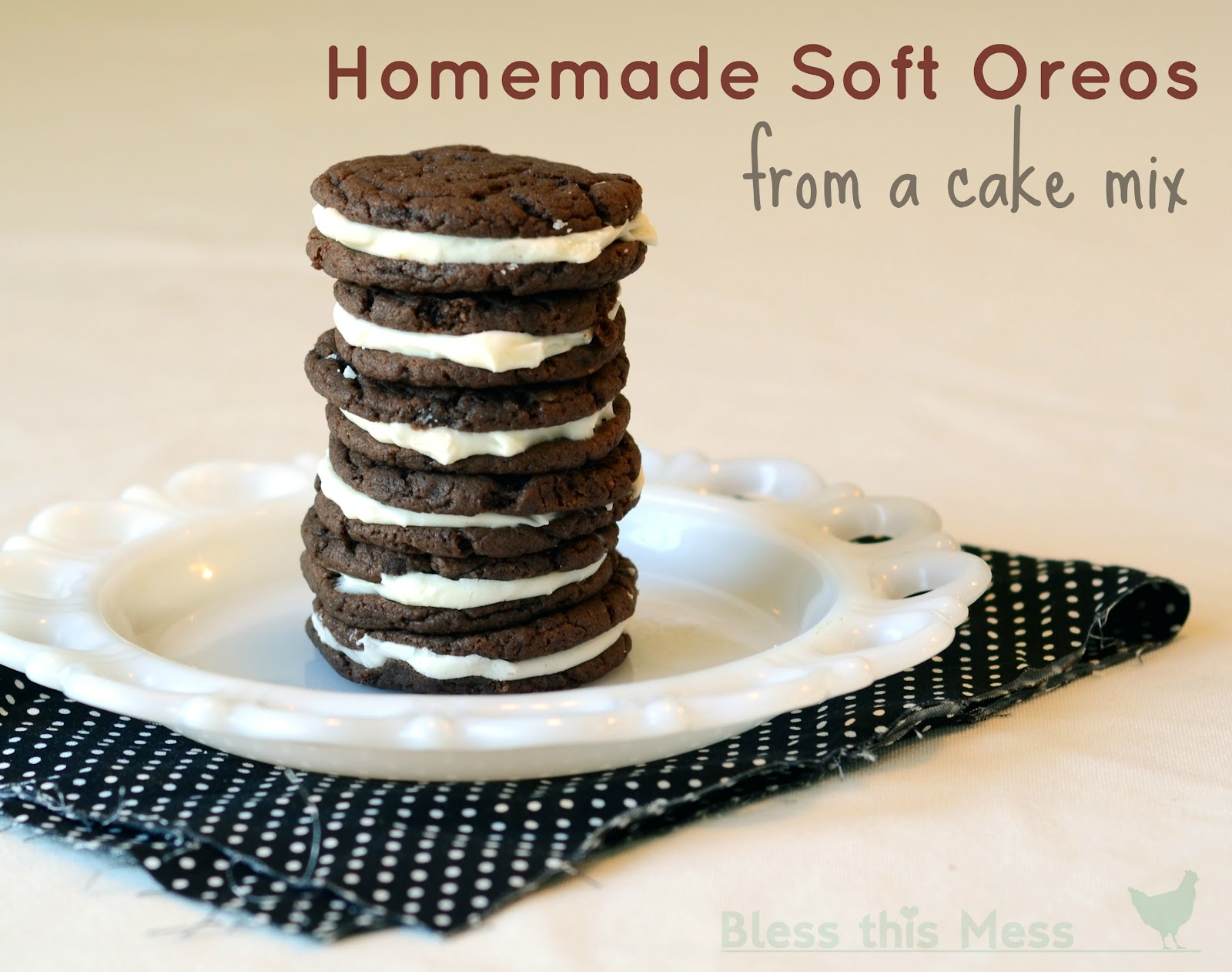 ... oreos . You can't really go wrong with a homemade oreo, soft or