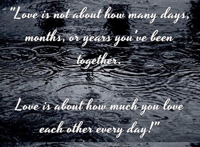 Tình yêu là việc yêu nhau bao nhiêu mỗi ngày