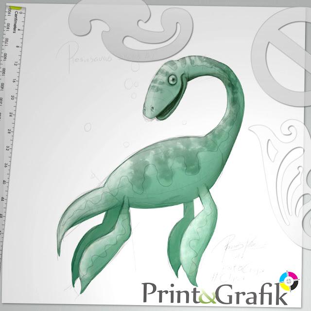 På billedet kan du se en skitse, som vores illustrator er i gang med lige nu.