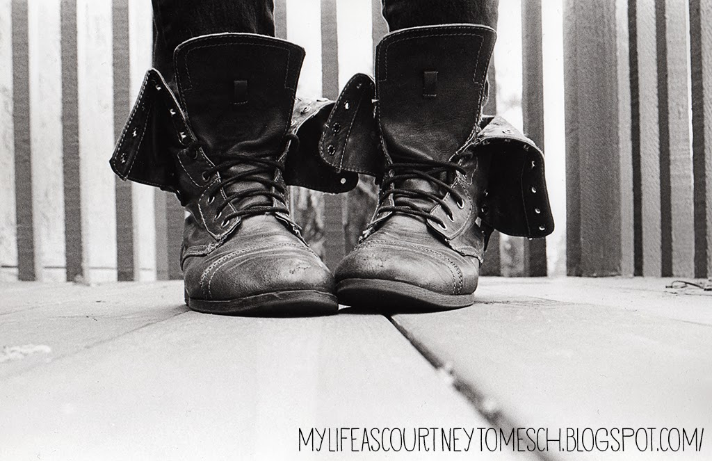 Black and White Photography Boots