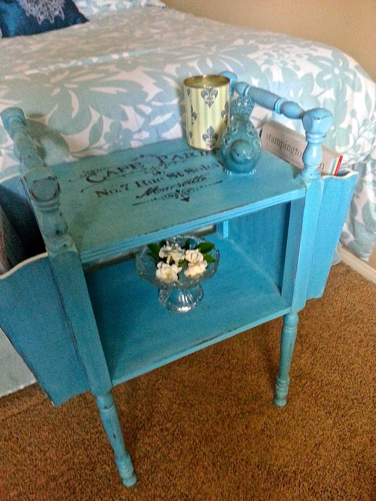 THE ALTERED FLEA Vintage Magazine Side Table Transformed with