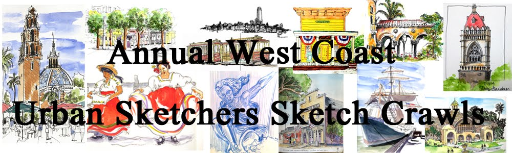 Annual West Coast Urban Sketchers Sketch Crawls