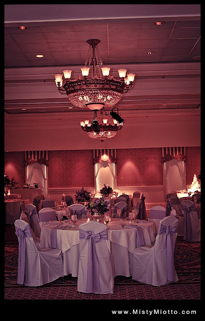 Walt Disney World wedding reception decorations and chair covers
