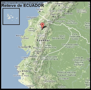 Mapa de Relieve de ECUADOR, Google Maps