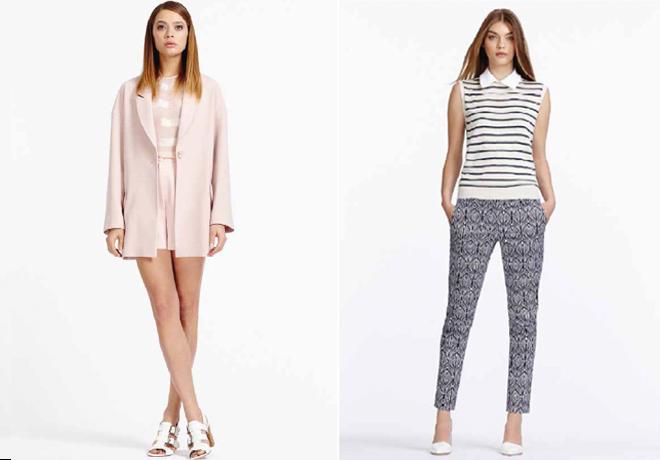 Debenahms, SS14, Pink suit, printed trousers, pink short, pink jacket