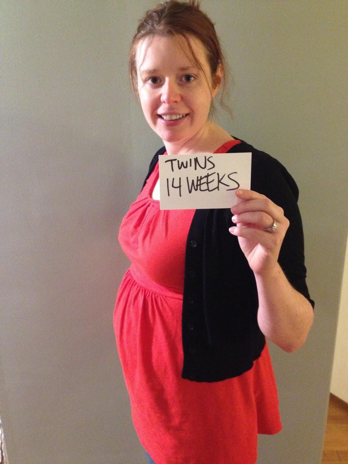 16 Weeks Pregnant Belly Twins 14 week twin belly