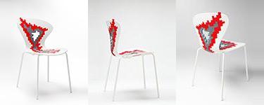 silla cocina roja