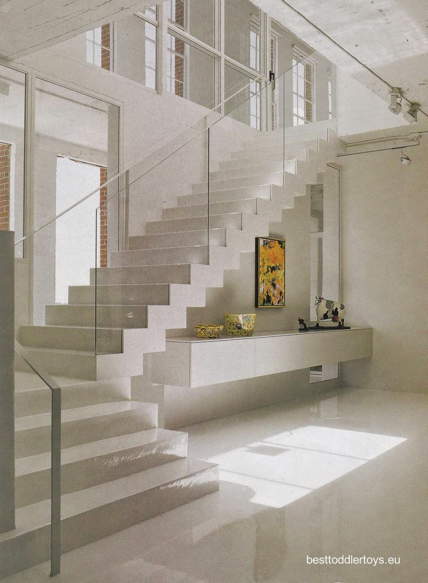 Arquitectura de casas 15 escaleras contempor neas blancas - Escalera caracol prefabricada ...