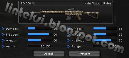 Senjata Pointblank SG 550 S.