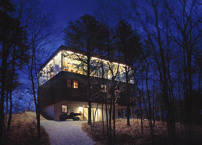 Casa minimalista en el bosque minimalistas 2015 for Casa minimalista vidriada