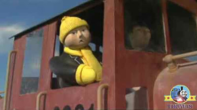 The Fat Controller riding on Salty the tank engine wasn't certain keeping up with James tank engine