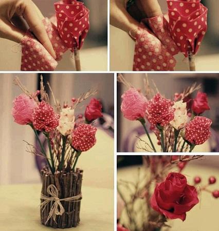 Como hacer rosas para el d a de la madre - Manualidades en tela paso a paso ...