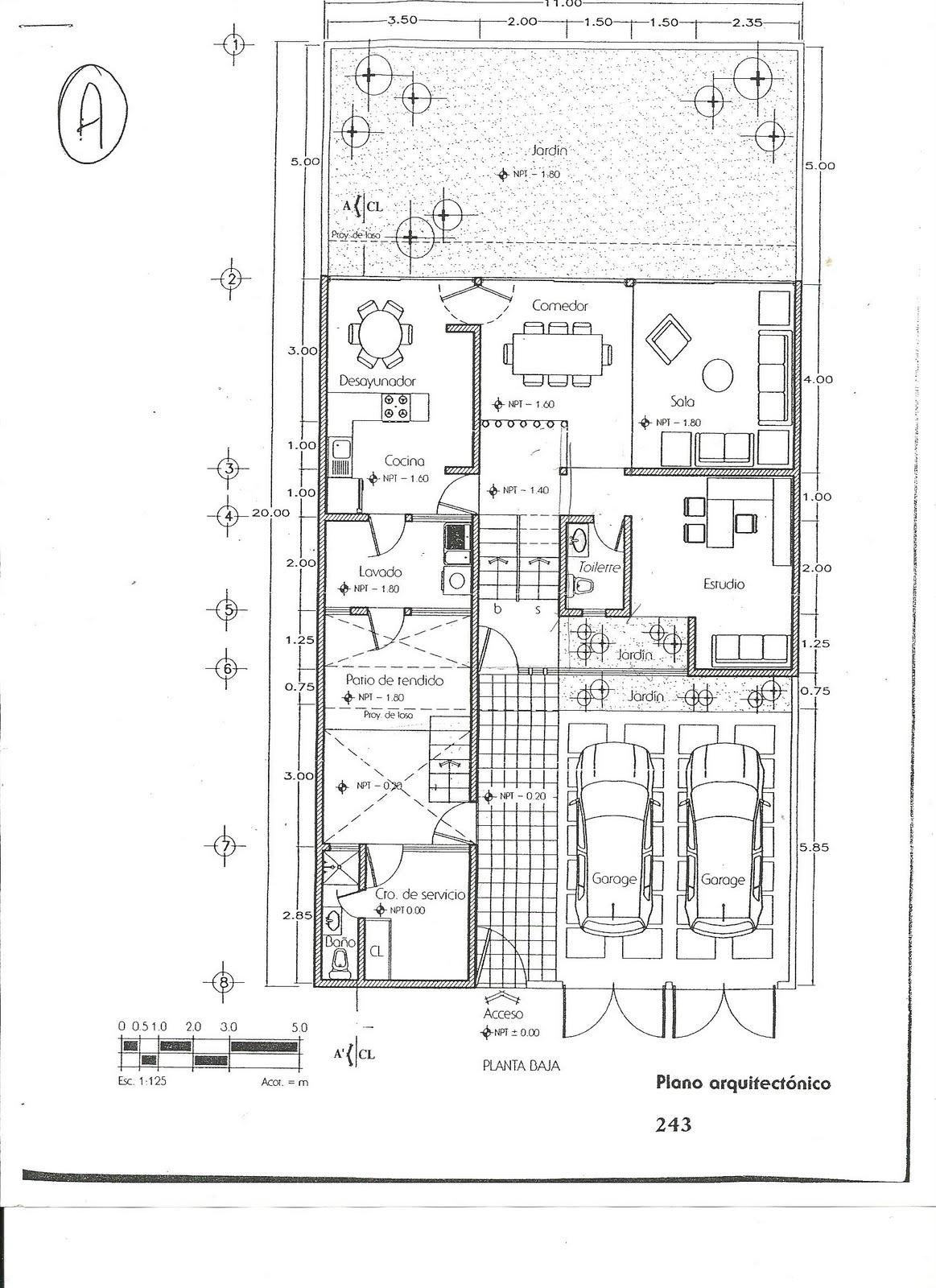 Plano arquitectonico casa habitacion pdf novel drug for Pie de plano arquitectonico pdf