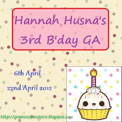 Hannah Husna's 3rd B'day GA