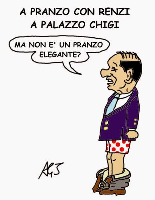 Berlusconi, Renzi, satira