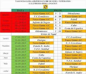 CALENDÁRIO DESPORTIVO ÉPOCA 2014 / 2015