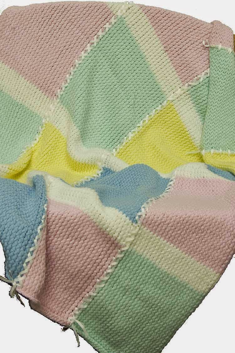Knifty Knitter Baby Squares Blanket