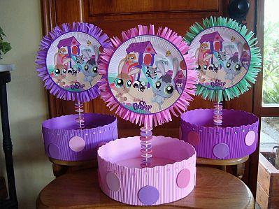 Decoracion de littlest pet shop para fiestas - Decoracion de mesas infantiles ...