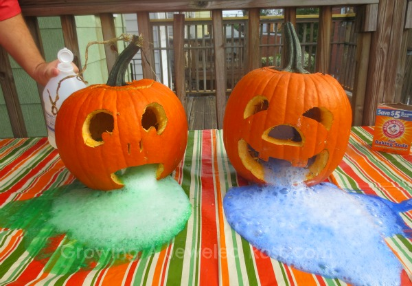 pumpkin play activities- erupting pumpkins