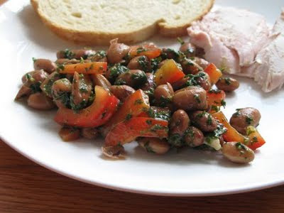 white bean and basil salad