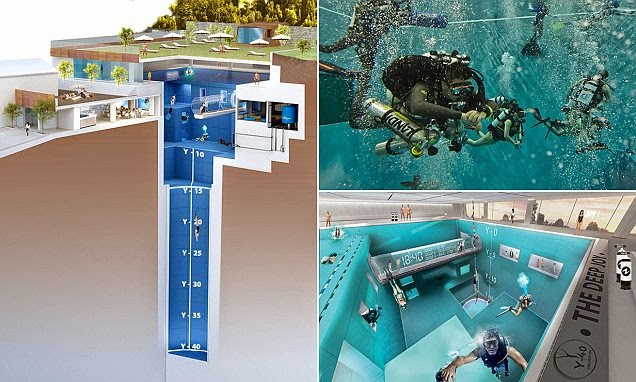 World s deepest swimming pool elakiri community for Piscine deep joy y 40