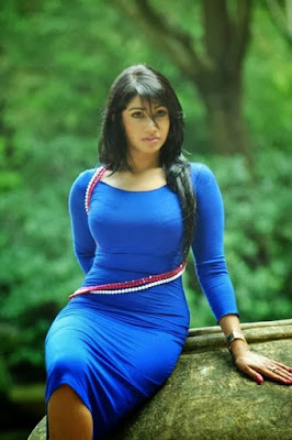 PhotoShoot Aksha Sudari Blue Dress Neutral | Sri Lankan Models Gossip