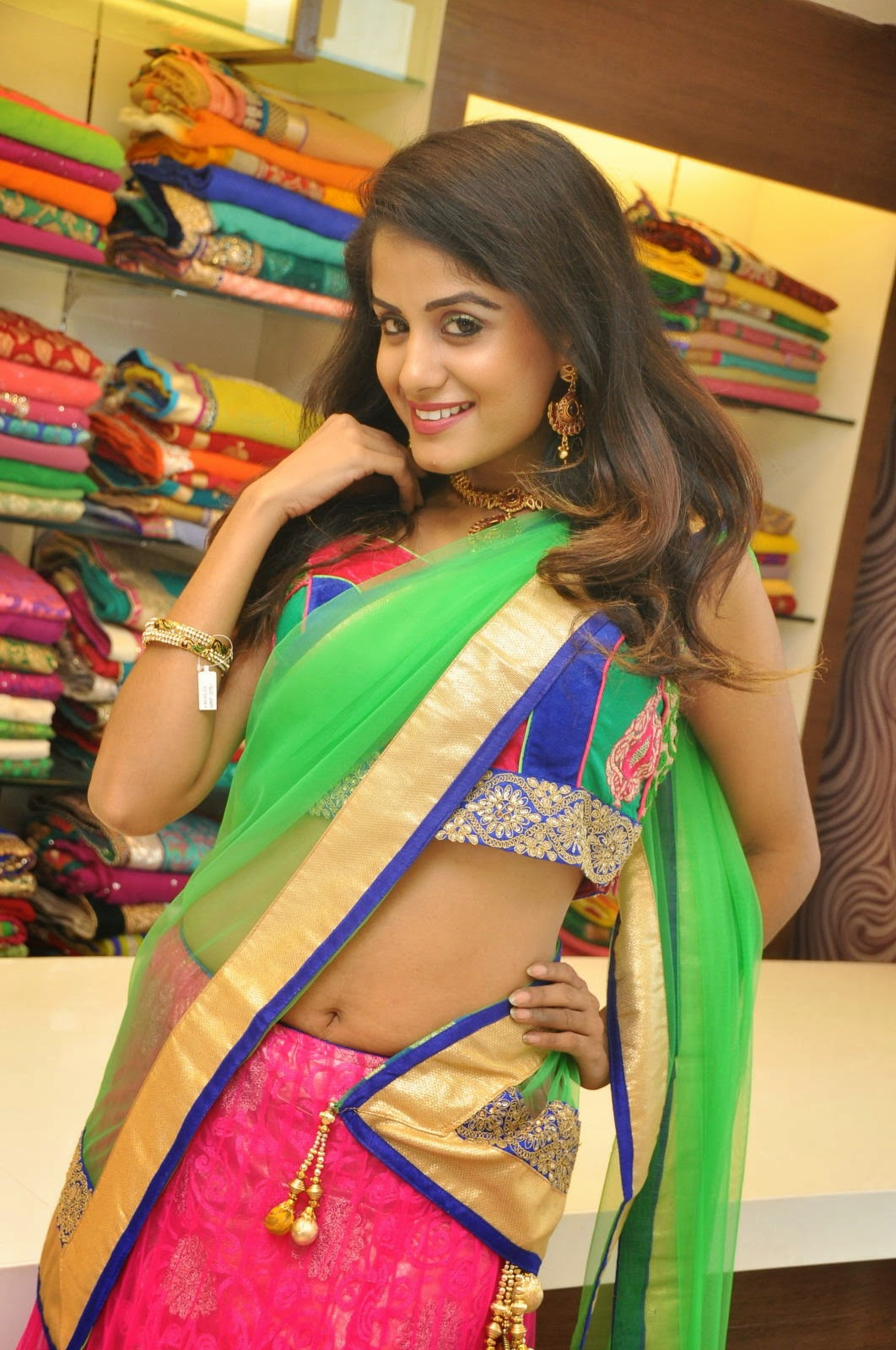Anukruthi Glam pics in half saree-HQ-Photo-3