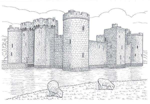 Disney Princess Castle Coloring Pages