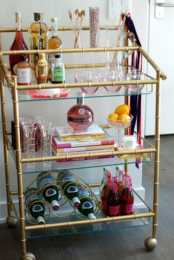A Bar Cart in Brooklyn | Bar Cart Design