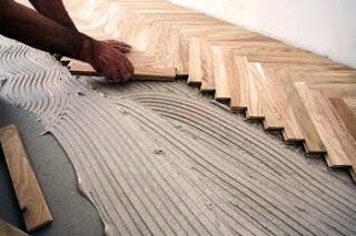 cara pasang lantai kayu parquet