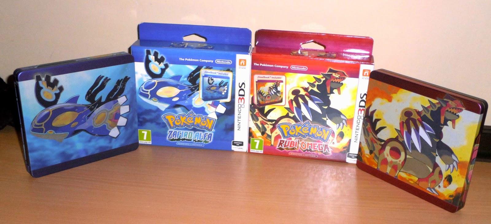 pokemon zafiro alfa rubi omega ediciones coleccionista caja metalica