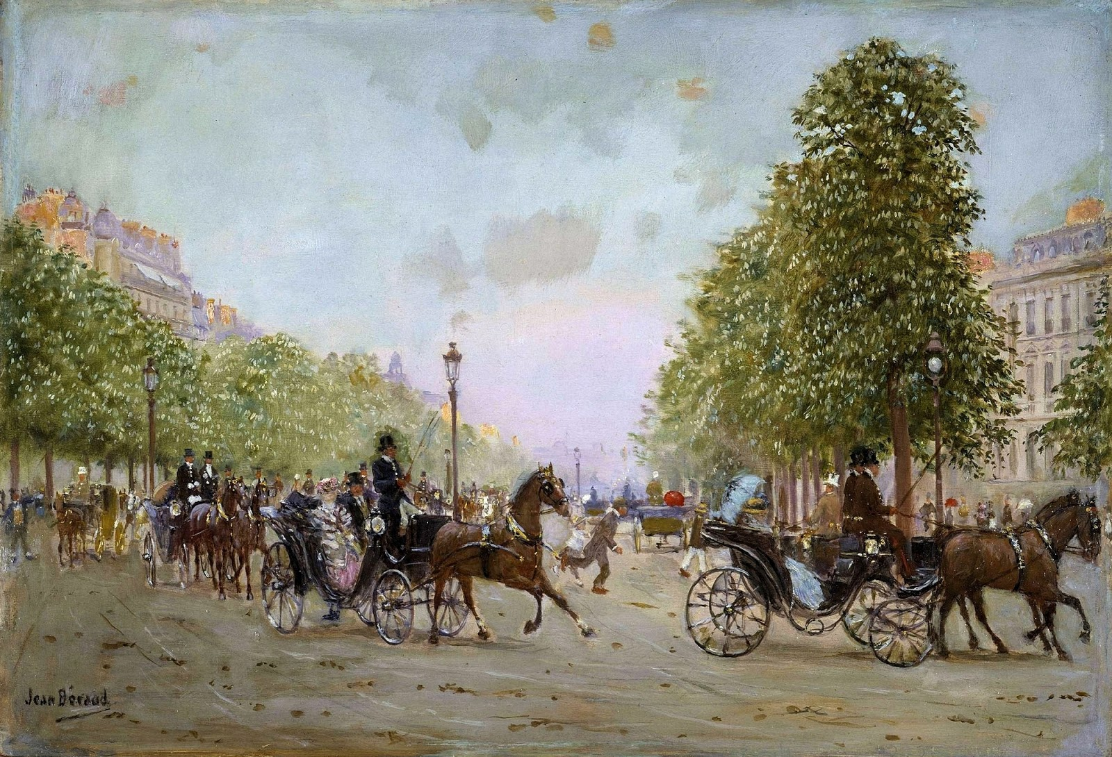 Jean    C Araud  The  Promenade  on  the  Champs Elysees