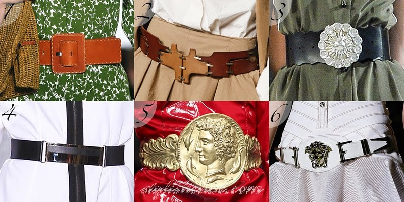 Spring Summer 2014 Women's Belts Fashion Trends