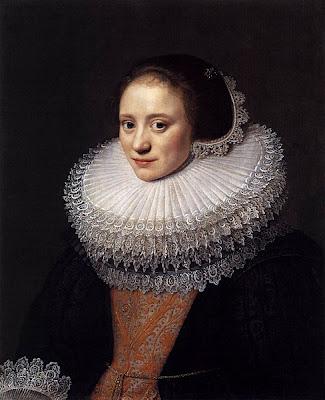 Michiel Jansz. van Mierevelt - portrait de femme,1628.