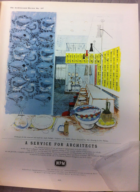 Ad for Architectural Review drawn by Roger Nicholson