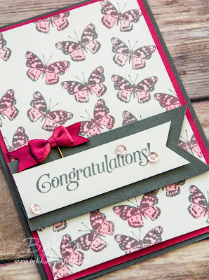 Congratulations Card featuring the Grateful Bunch Stamp Set and Love Blossoms Embellishment Kit from Stampin' Up! UK - grab them here